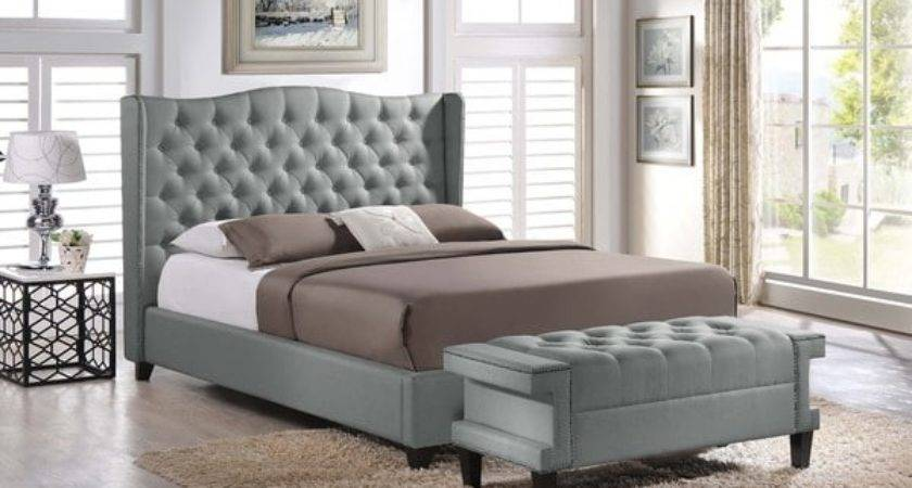 Baxton Studio Zant Queen King Grey Modern Bedroom Set