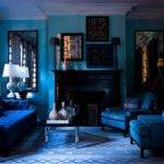 Beautiful Blue Living Room Dark Color Ideas