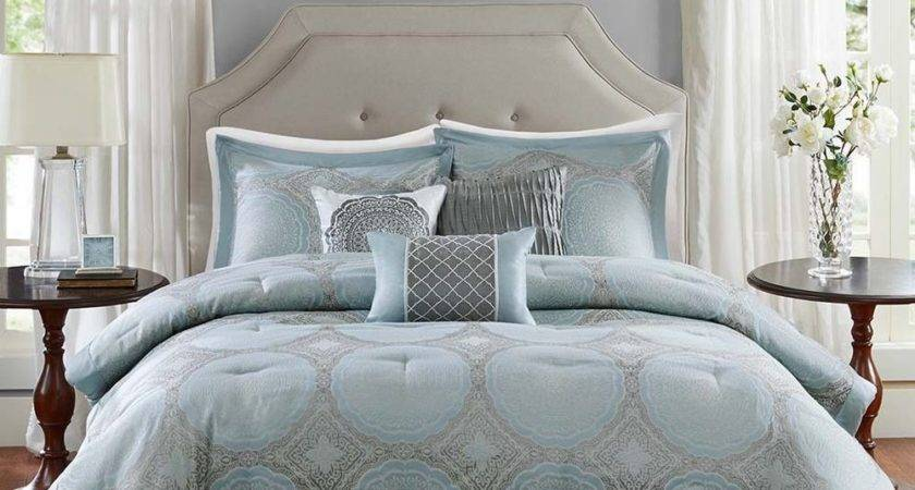 Beautiful Chic Modern Light Blue Grey White Brown