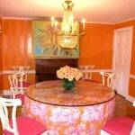 Beautiful Dining Room Pink Color Accent Touches