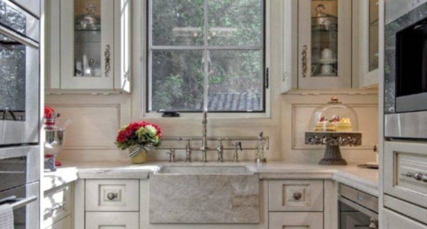 Beautiful Galley Kitchen Takes Advantage Vertical Space