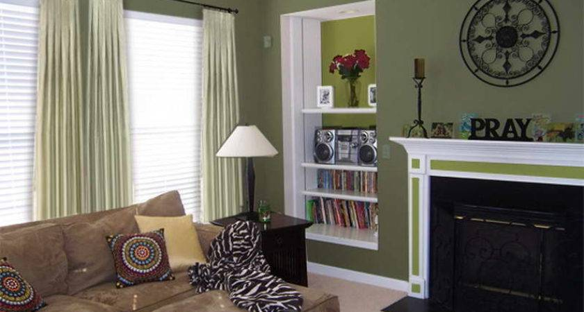 Beautiful Living Room Paint Ideas Green Color