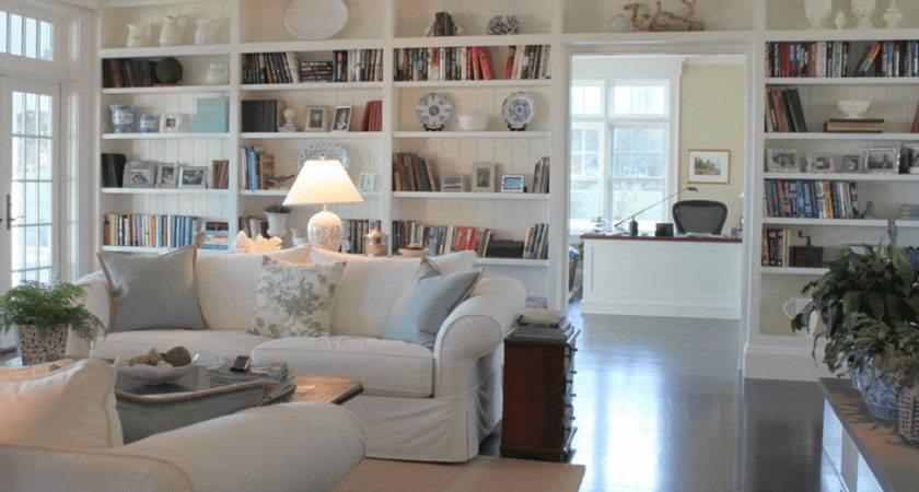 Beautiful Living Rooms Built Shelving