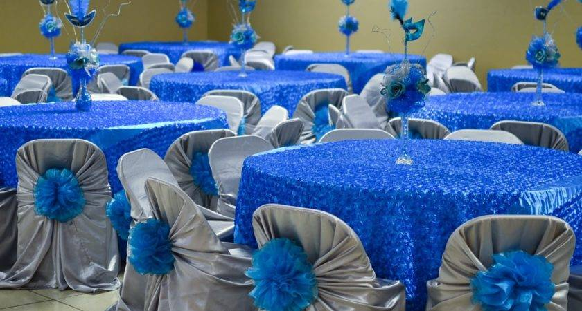 Beautiful Quince Decorations Quinceanera Blue Theme