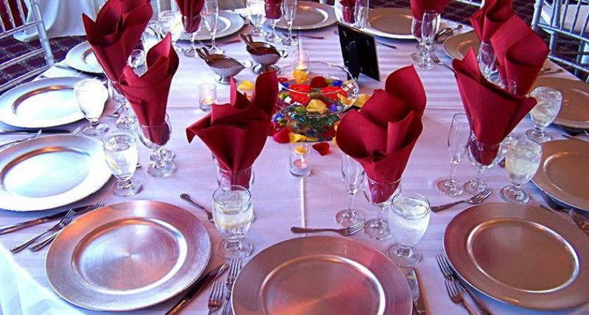 Beautiful Table Setting Ideas Red Napkins Home