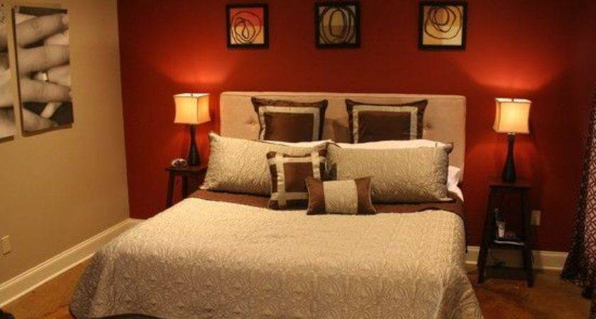 Beauty Red Color Bedroom Walls Best Cool Ideas