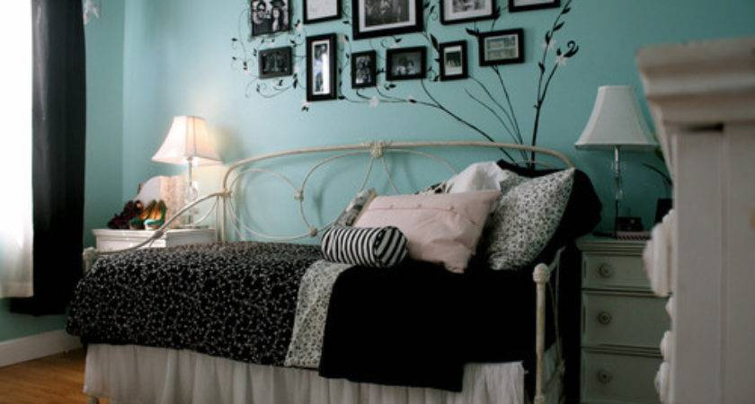 Bed Black Blue Cute Pillow Room