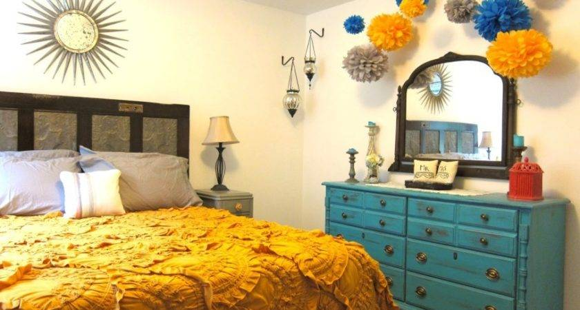 Bedroom Attractive Bohemian Themed Hipster