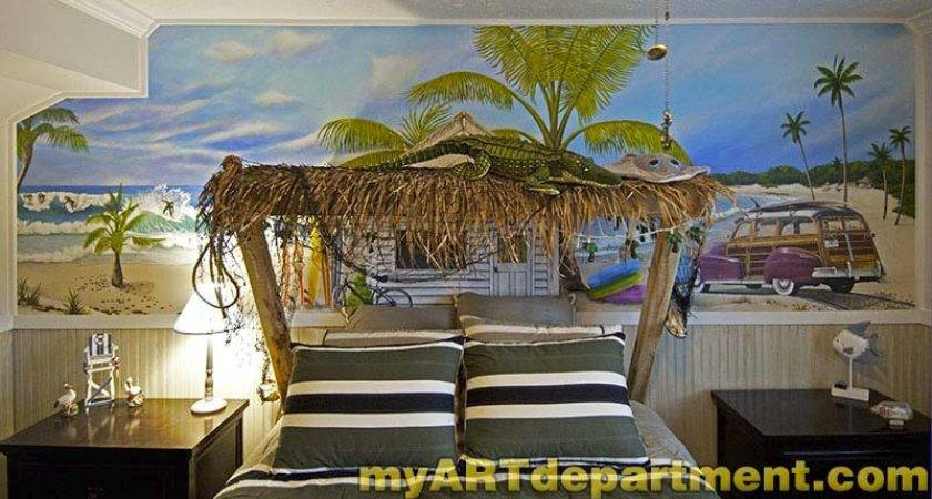Bedroom Beach Mural Boy Room