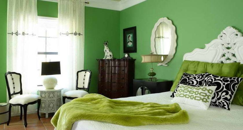 Bedroom Green White Ideas Mirror Glass