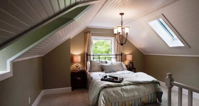 Bedroom Guest Attic Decorating Ideas