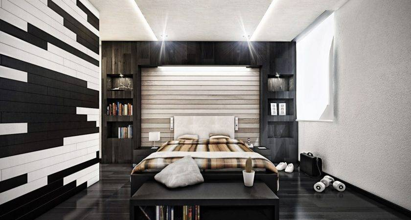 Bedroom Modern Design Distressed Wall Ryan