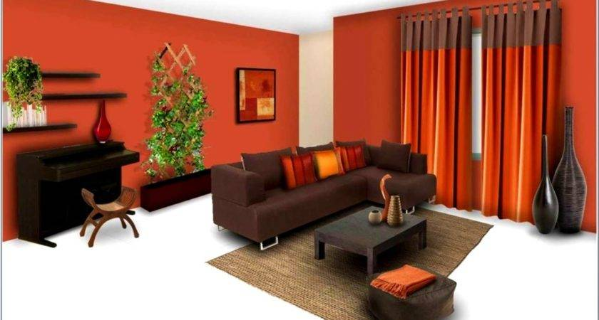 Bedroom Outstanding Orange Wall Paint Color Schemes