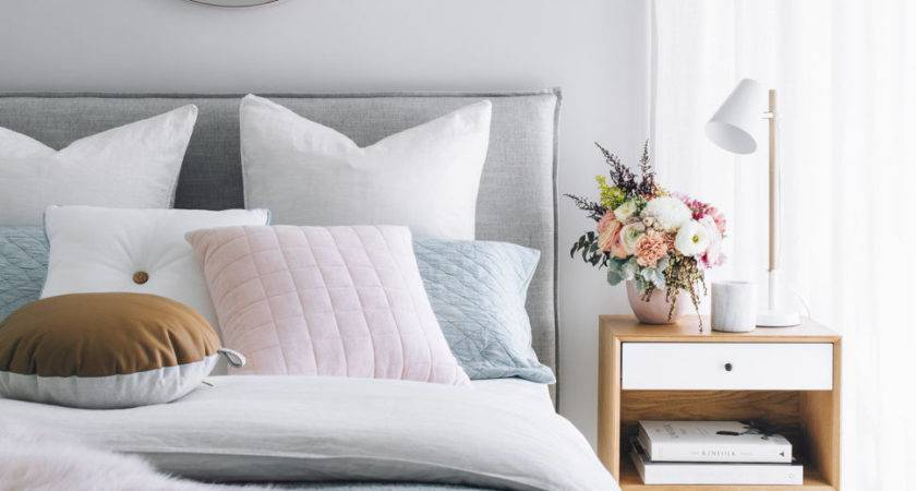 Bedroom Pink Accents Make Hyggeinspired Furs Summer