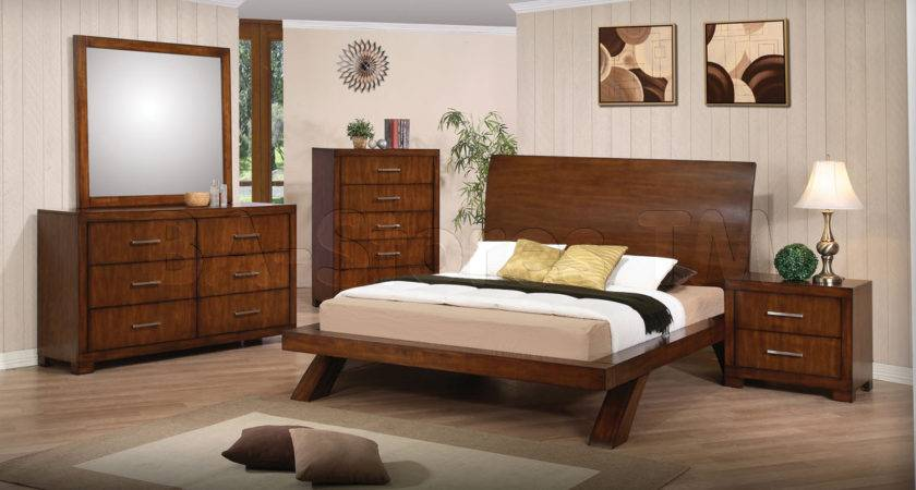 Bedroom Set Brown Cherry Arranging