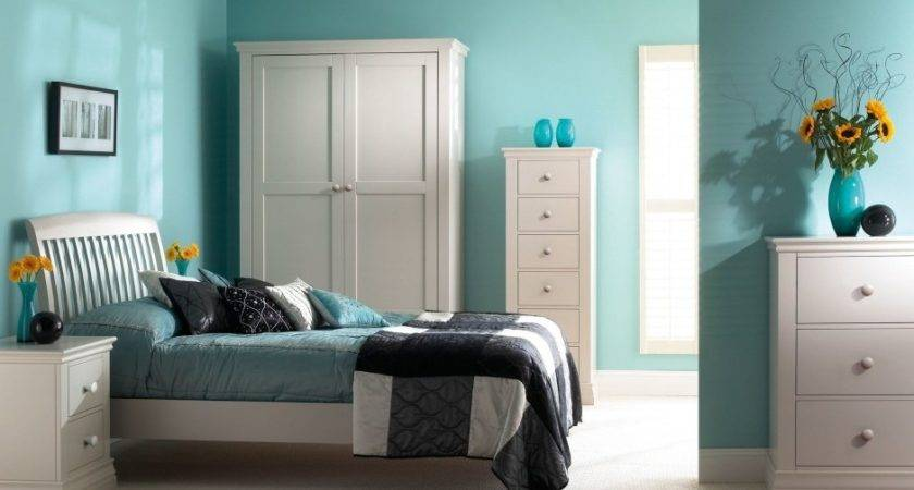 Bedroom Turquoise Black Design White