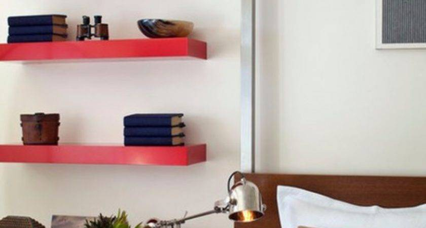 Bedroom Wall Shelves Decorating Ideas Design Bed