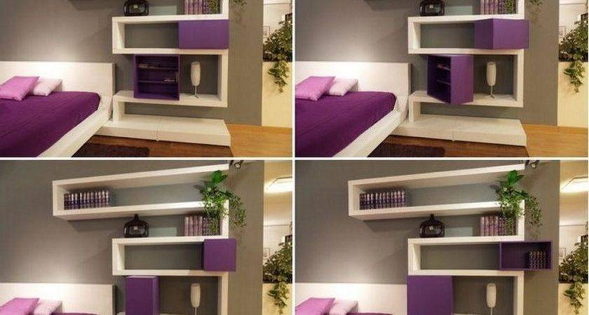 Bedroom Wall Shelves Decorating Ideas