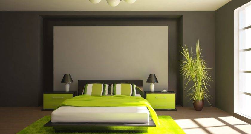 Bedrooms Adorably Green Bedroom Gray Yellow