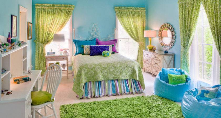 Bedrooms Lime Green Accents Home Design Lover