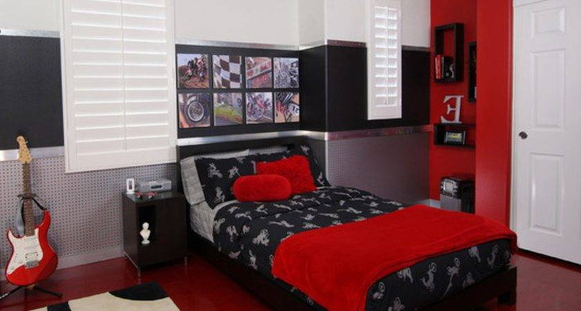Bedrooms Red White Bedroom Design Ideas