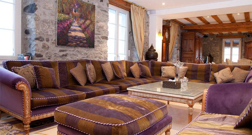 Beige Purple Living Room Design Ideas Photos