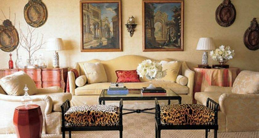 Beige Wall Color Camel Back Couch Classic Living