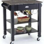 Bernards Kitchen Carts Caster Island Marble