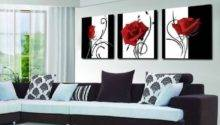 Best Black White Wall Art Red