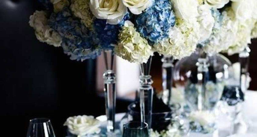 Best Blue Centerpieces Ideas Pinterest