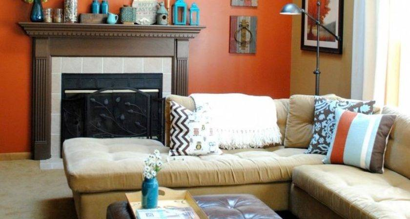 Best Burnt Orange Teal Living Room Colors