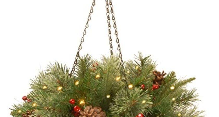 Best Christmas Hanging Baskets Lights