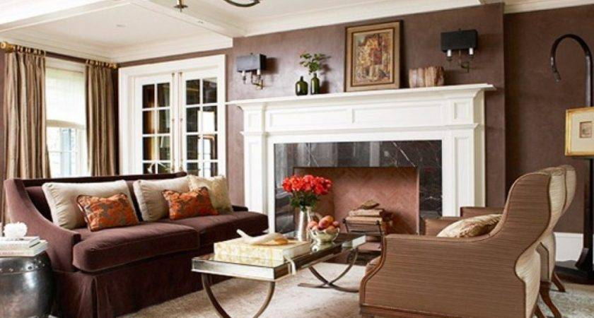 Best Color Living Room Brown Furniture