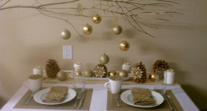 Best Gold White Christmas Table Decorations Diy