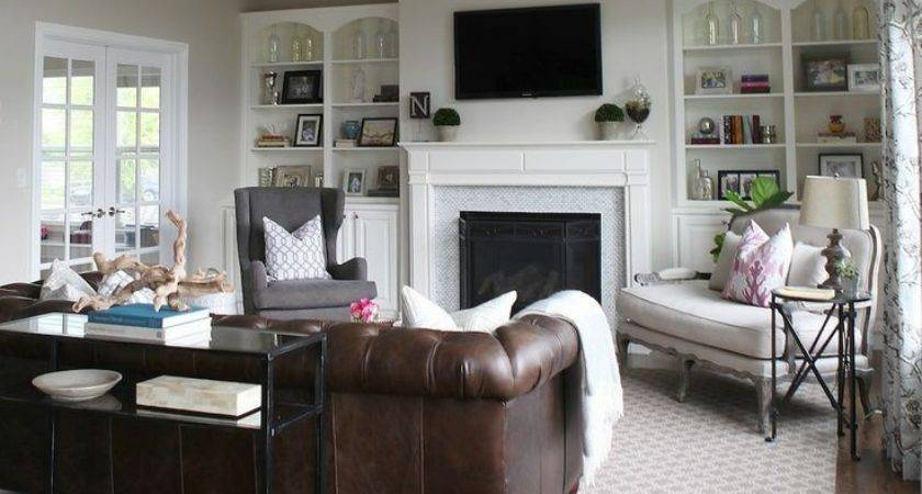 Best Gray Living Room Walls Brown Couch Ideas