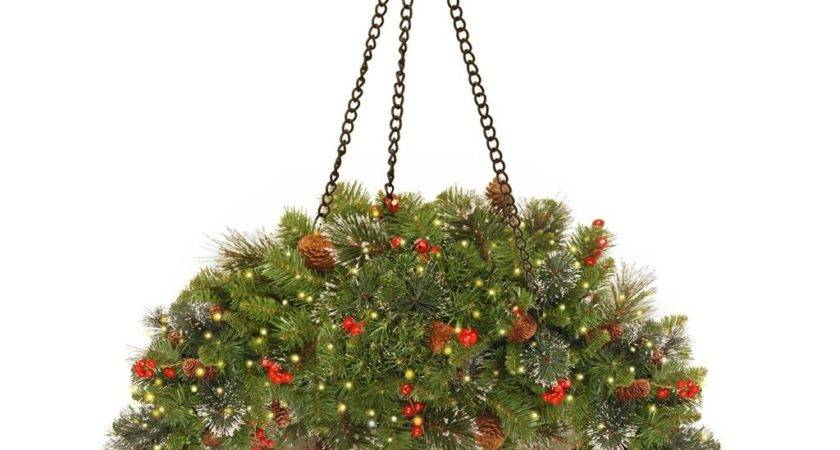 Best Hanging Christmas Baskets Porches Lights