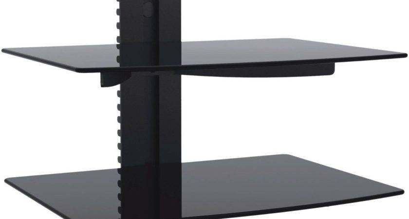 Best Ideas Floating Black Glass Shelf