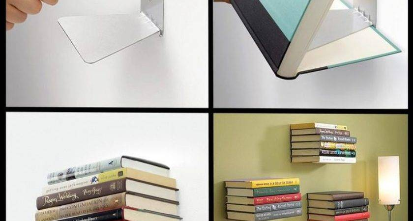 Best Invisible Bookshelf Ideas Pinterest