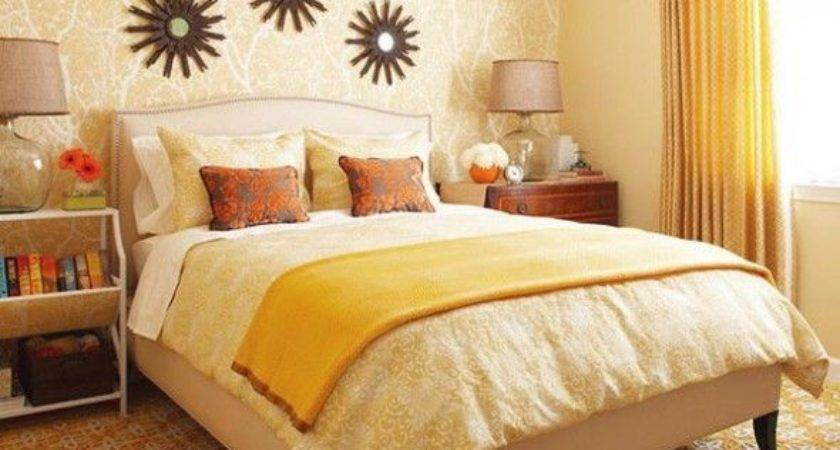Best Orange Coral Yellow Bedroom Pinterest