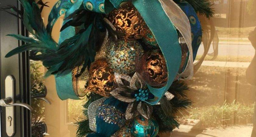 Best Peacock Wreath Ideas Pinterest Deco Wreaths