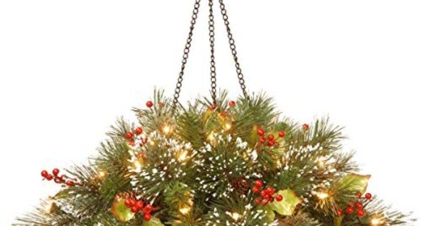 Best Pre Lit Christmas Hanging Baskets Led Lights