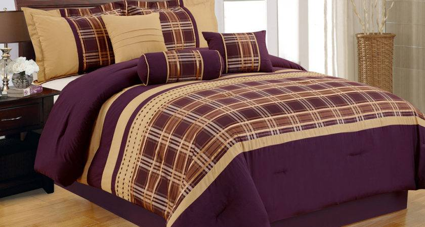 Best Purple Gold Comforter Set