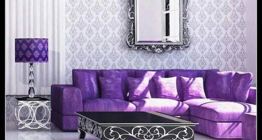 Best Purple Sofa Ideas Pinterest Living