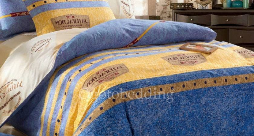 Best Quality Blue Yellow Patterned Holiday Duvet Covers