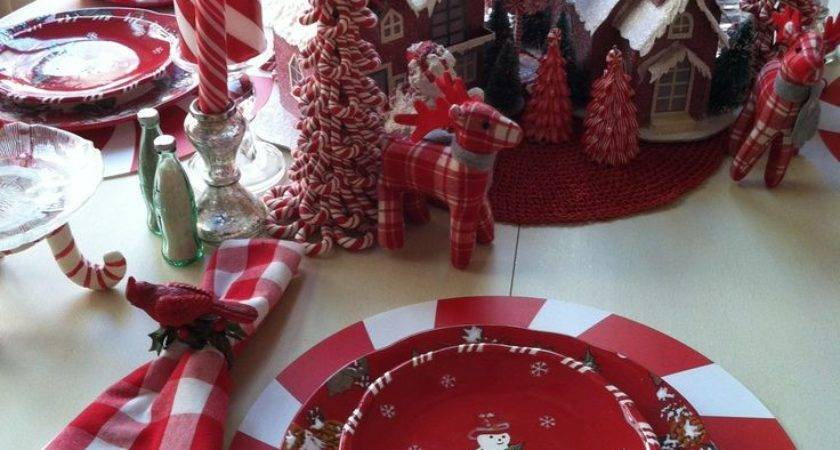 Best Red Table Settings Ideas Pinterest Christmas