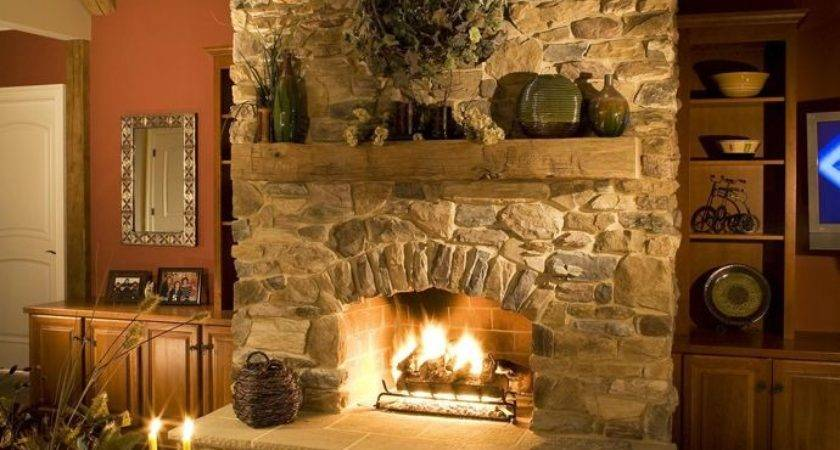 Best Stone Fireplaces Ideas Pinterest