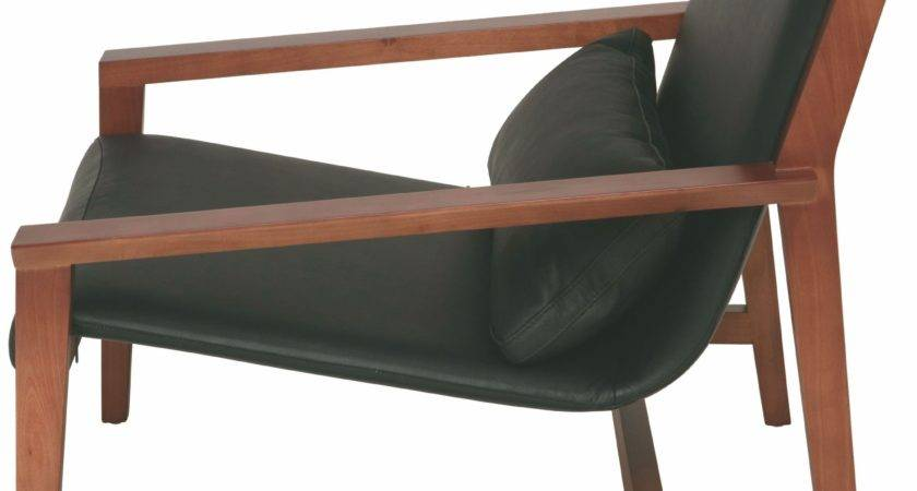 Bethany Black Leather Lounger Chair Hgsd Nuevo