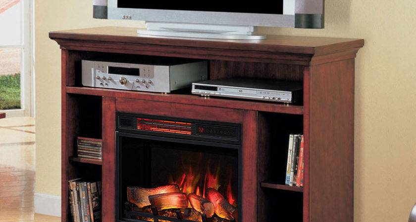 Beverly Premium Cherry Media Console Electric