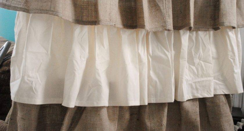 Black Brown Ruffle Burlap Curtain Best Curtains Design