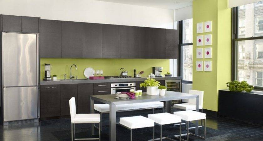 Black Ceramic Floor Modern Kitchen Ideas Using Two